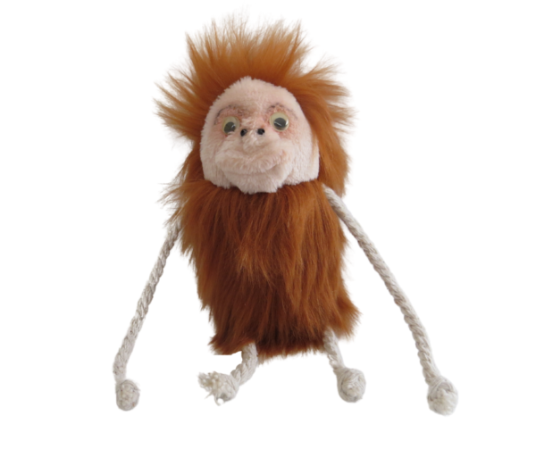 The Feline Fun Factory Tango Mango cat toy, fluffy orangutan